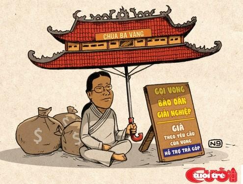 chua ba vang - Three Golden Pagoda